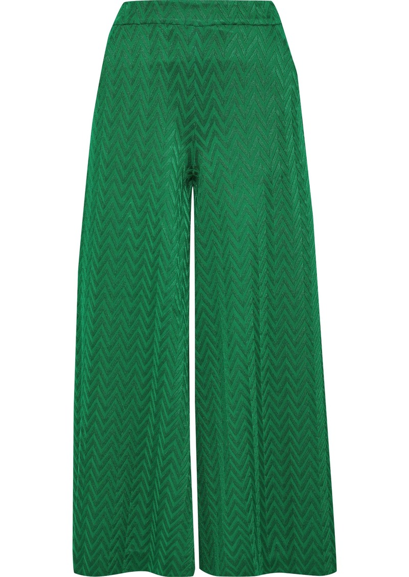 Missoni Woman Crochet-knit Culottes Green