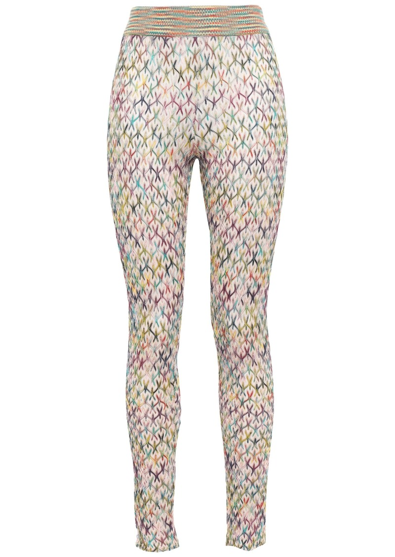 Missoni Woman Crochet-knit Leggings Cream