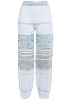 Missoni Woman Crochet-knit Linen-blend Wide-leg Pants Sky Blue