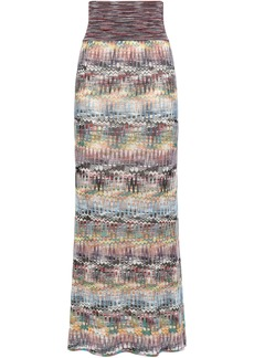 Missoni Woman Crochet-knit Maxi Skirt Lavender