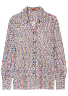 Missoni Woman Crochet-knit Shirt Multicolor