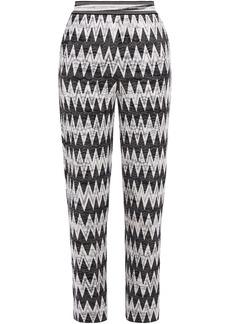 Missoni Woman Crochet-knit Straight-leg Pants Black