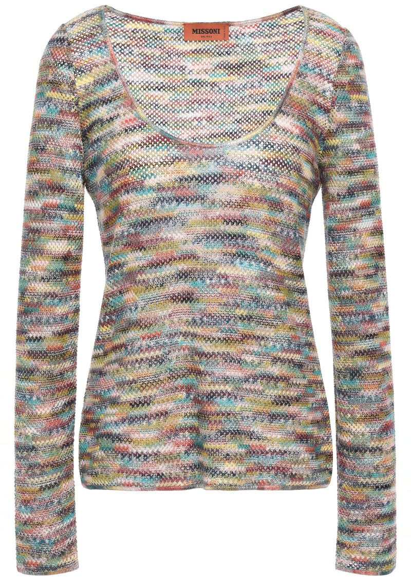 Missoni Woman Crochet-knit Top Grape