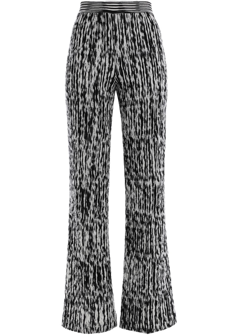 Missoni Woman Crochet-knit Wool-blend Bootcut Pants Black
