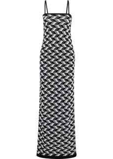 Missoni Woman Crochet-knit Wool-blend Maxi Dress Black