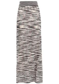 Missoni Woman Crochet-knit Wool Maxi Skirt Black