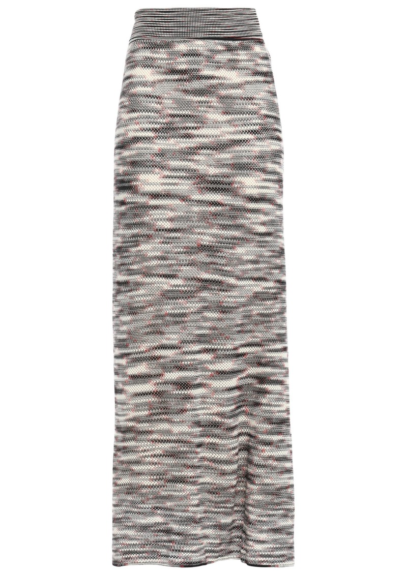 Missoni Woman Crochet-knit Wool Maxi Skirt Black