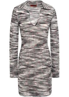 Missoni Woman Crochet-knit Wool Mini Dress Black