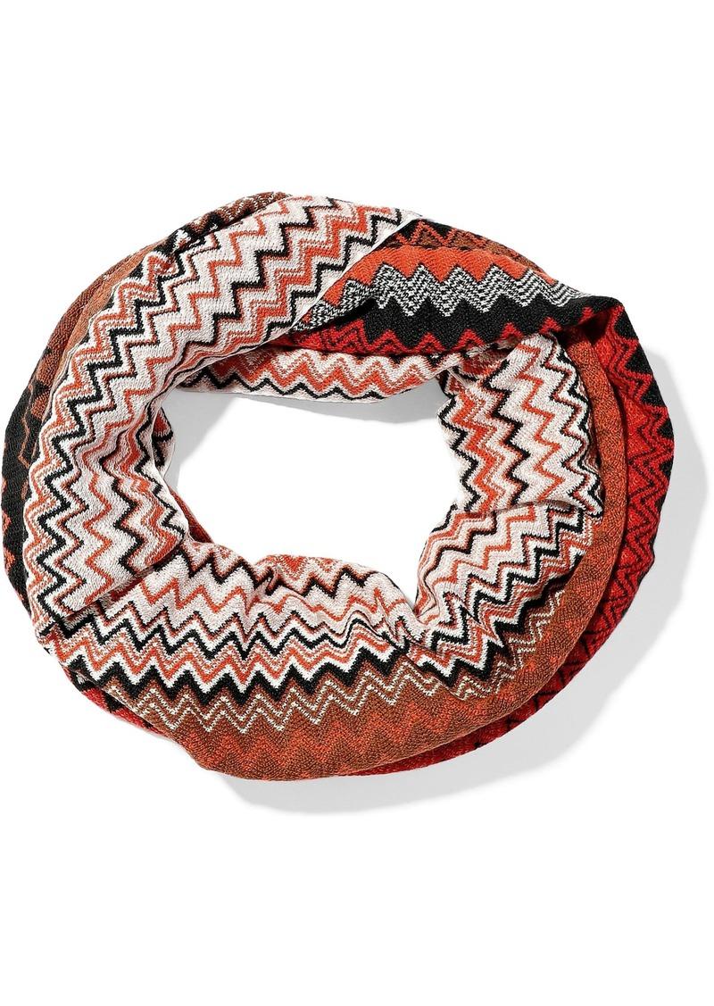 Missoni Woman Crochet Wool-blend Infinity Scarf Red