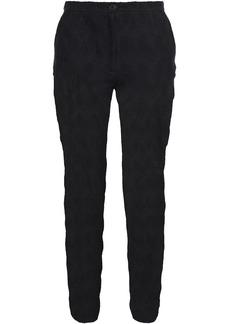 Missoni Woman Cropped Crochet-knit Linen And Cotton-blend Slim-leg Pants Black