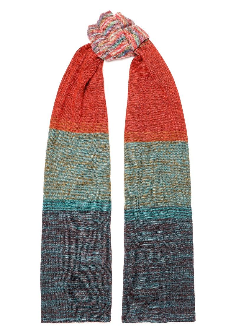 Missoni Woman Dégradé Crochet-knit Scarf Brick