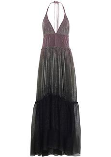 Missoni Woman Dégradé Knitted Maxi Dress Gunmetal