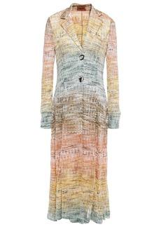 Missoni Woman Dégradé Metallic Crochet-knit Coat Multicolor