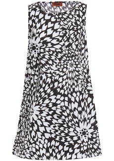 Missoni Woman Floral-print Cotton-poplin Mini Dress White