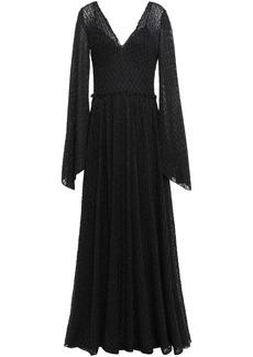 Missoni Woman Gathered Metallic Crochet-knit Maxi Dress Black