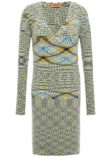 Missoni Woman Intarsia Cashmere Mini Dress Sage Green