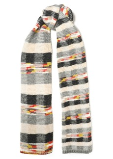 Missoni Woman Intarsia-knit Scarf Gray