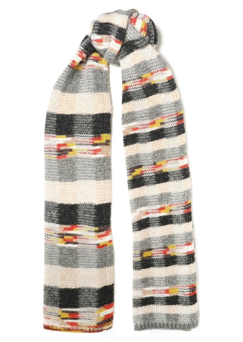 Missoni Woman Intarsia-knit Scarf Gray