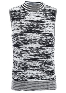 Missoni Woman Intarsia-knit Top Black