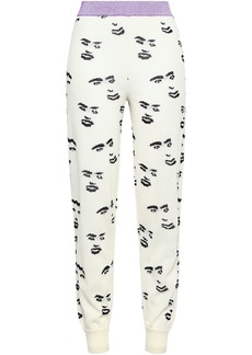 Missoni Woman Intarsia Wool-blend Track Pants Off-white