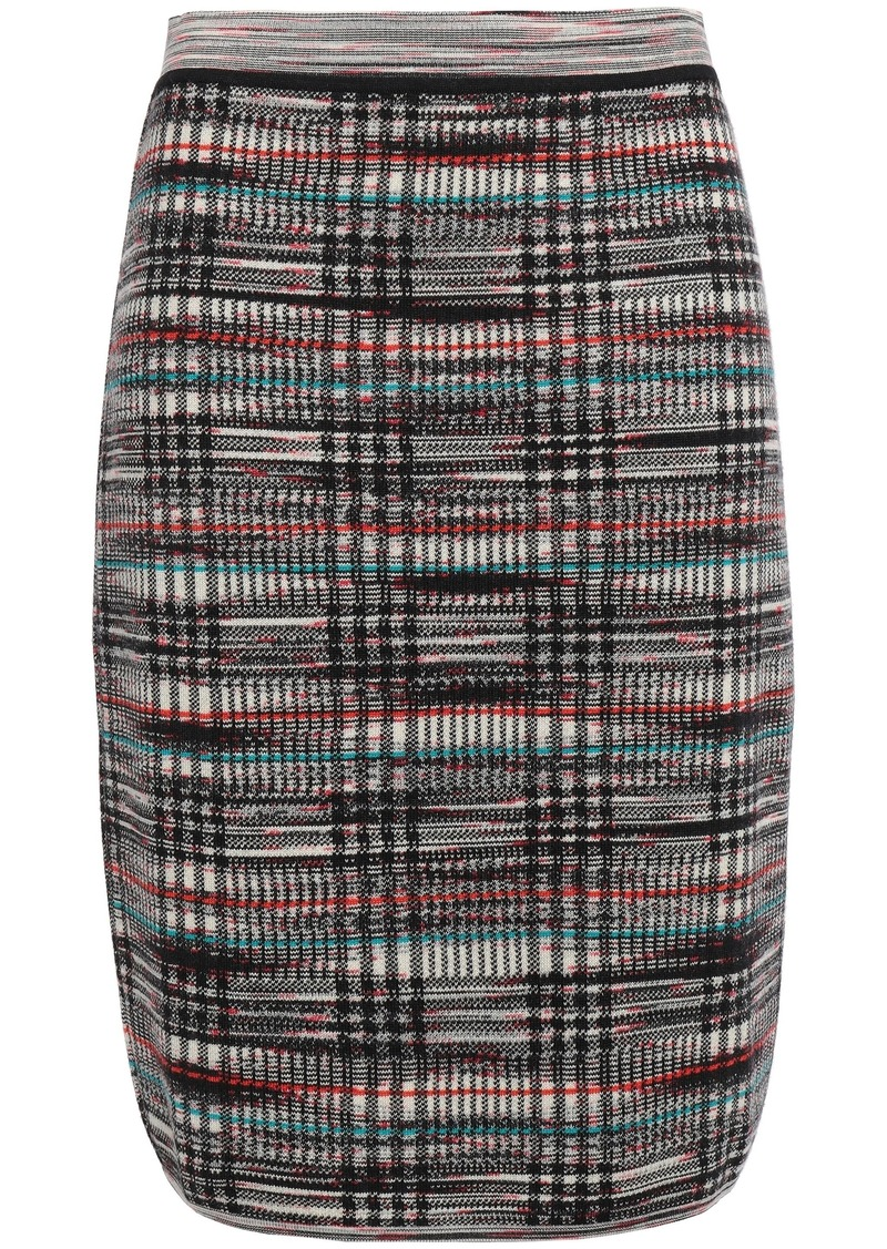 Missoni Woman Jacquard-knit Wool Skirt Black