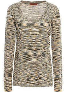 Missoni Woman Marled Wool Top Marigold