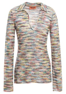 Missoni Woman Marled Crochet-knit Top Grape