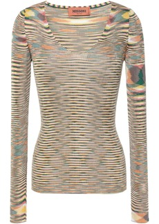 Missoni Woman Marled Ribbed-knit Top Yellow