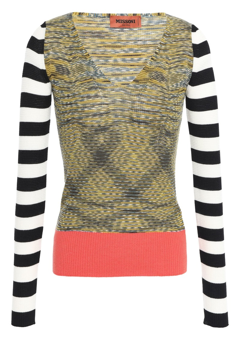 Missoni Woman Marled Wool-blend Top Multicolor