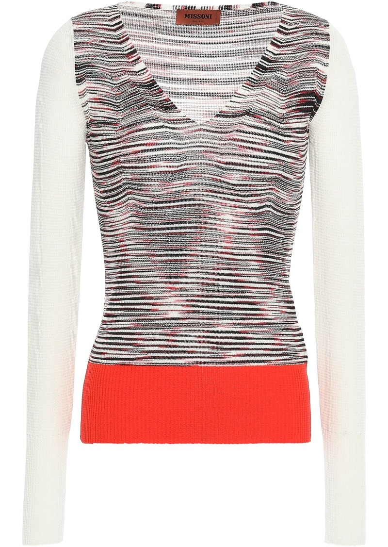 Missoni Woman Marled Wool-blend Top White
