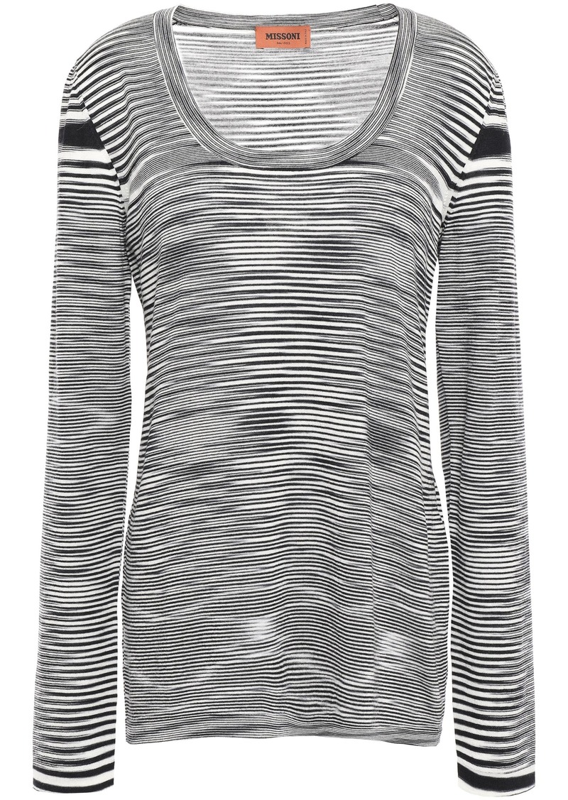 Missoni Woman Marled Wool Top Black