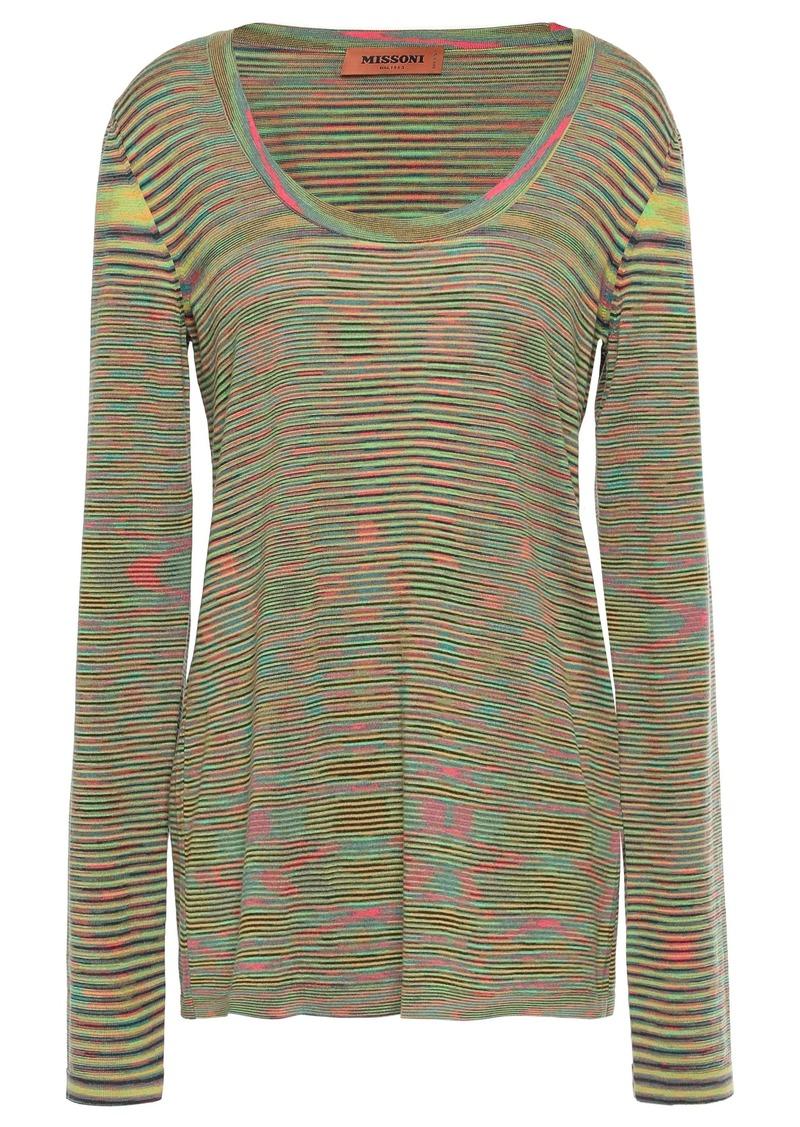Missoni Woman Marled Wool Top Green