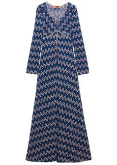Missoni Woman Metallic Crochet-knit Cardigan Royal Blue