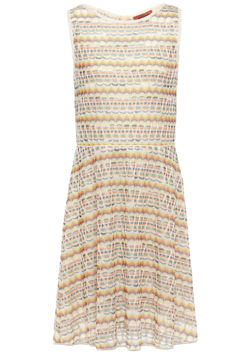 Missoni Woman Metallic Crochet-knit Dress Pastel Yellow