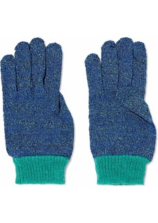 Missoni Woman Metallic Crochet-knit Gloves Cobalt Blue
