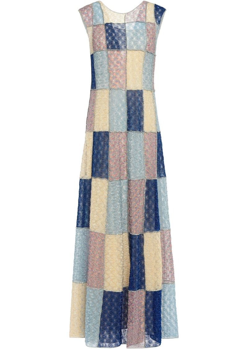 Missoni Woman Metallic Crochet-knit Maxi Dress Lavender
