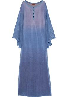 Missoni Woman Metallic Crochet-knit Maxi Dress Light Blue