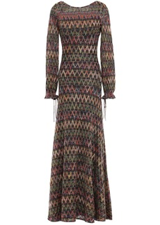 Missoni Woman Metallic Crochet-knit Maxi Dress Multicolor