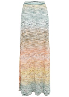 Missoni Woman Metallic Crochet-knit Maxi Skirt Teal