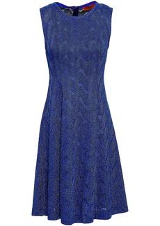 Missoni Woman Metallic Crochet-knit Mini Dress Indigo