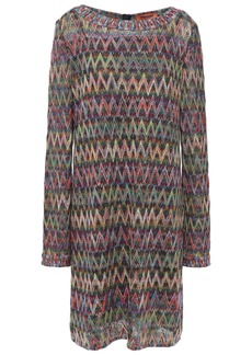 Missoni Woman Metallic Crochet-knit Mini Dress Multicolor
