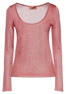 Missoni Woman Metallic Crochet-knit Sweater Pink