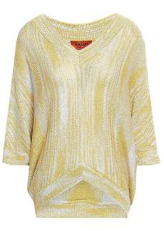 Missoni Woman Metallic Crochet-knit Top Pastel Yellow