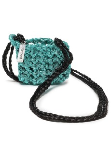 Missoni Woman Metallic Crocheted Coin Purse Turquoise