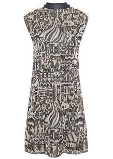 Missoni Woman Metallic Jacquard-knit Mini Dress Navy