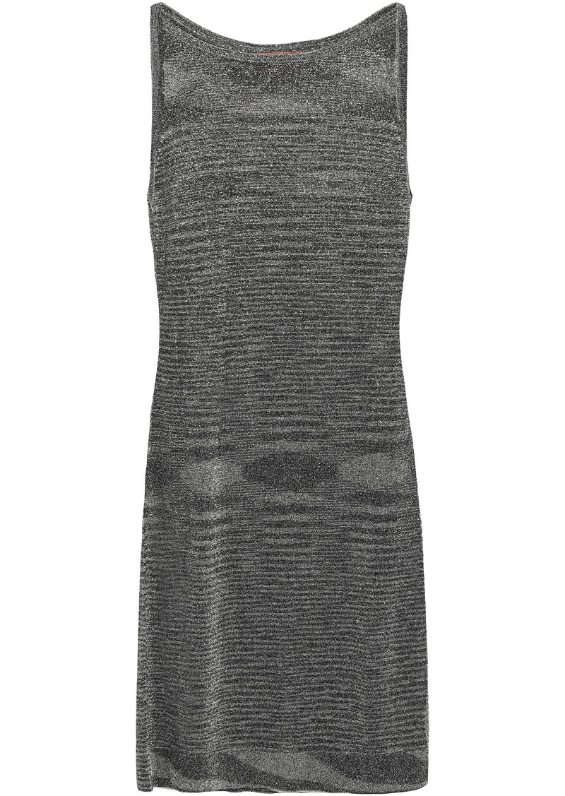 Missoni Woman Metallic Stretch-knit Mini Dress Black