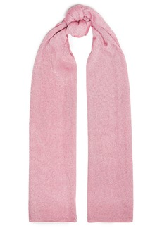 Missoni Woman Metallic Knitted Scarf Baby Pink