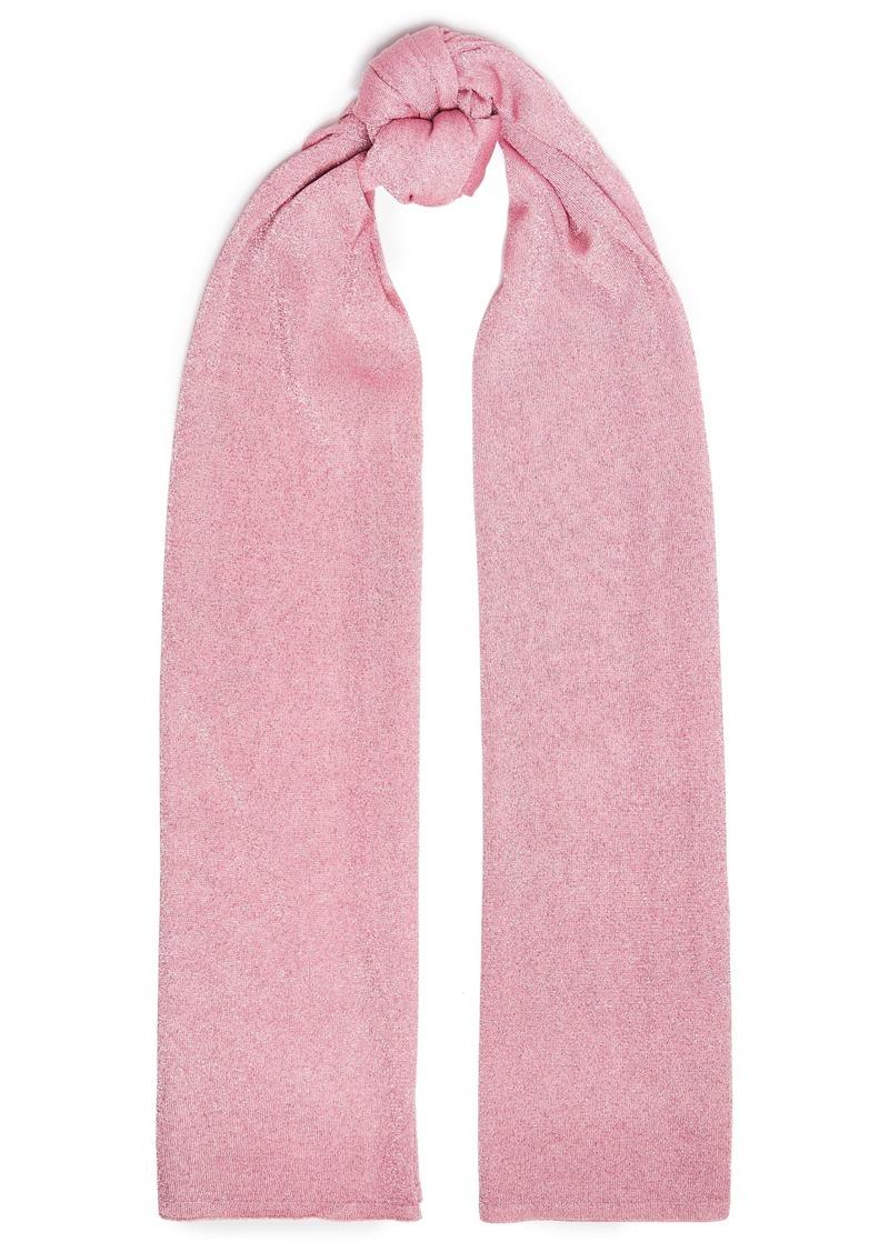 Missoni Woman Metallic Knitted Scarf Baby Pink