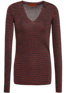 Missoni Woman Metallic Knitted Top Brick