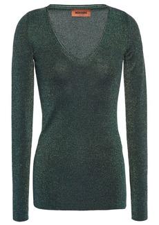Missoni Woman Metallic Knitted Top Emerald
